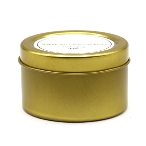 8oz Wholesale scented travel candles tins with private label own brand custom packaging bo