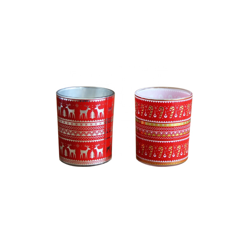 Free sample supply 7*8cm Christmas scented soy wax candles China supplier