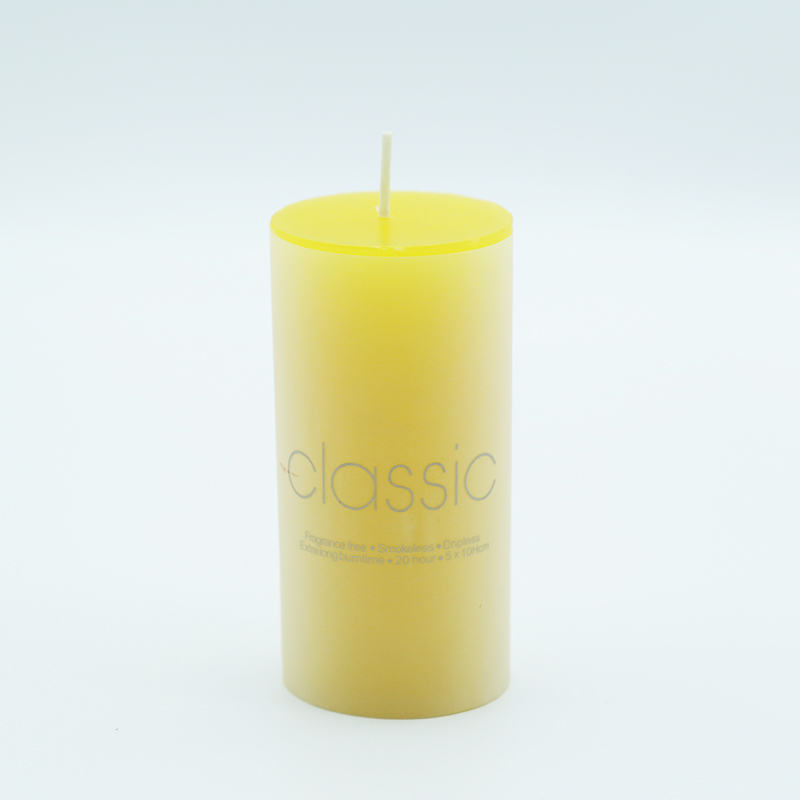 Free samples provide wholesale scented pillar candle China supplier with own brand customization