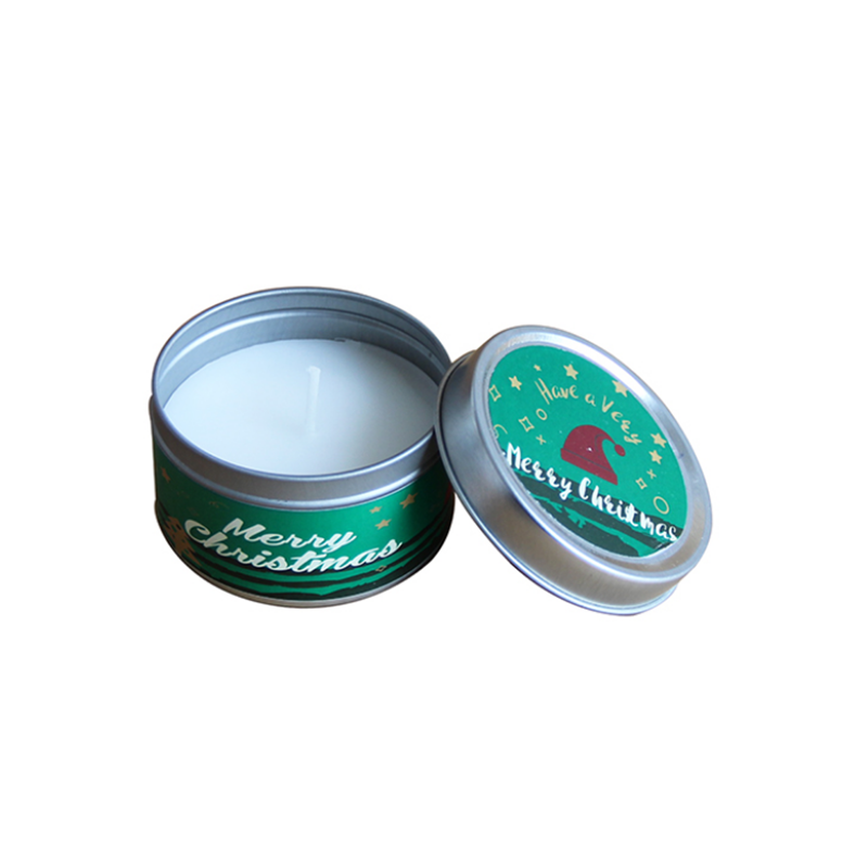 Wholesale brand custom Christmas scented soy tins candles China suppliers