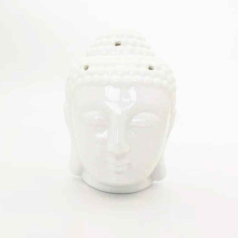Wholesale white Buddha head ceramic oil burner Australia with customized packaging