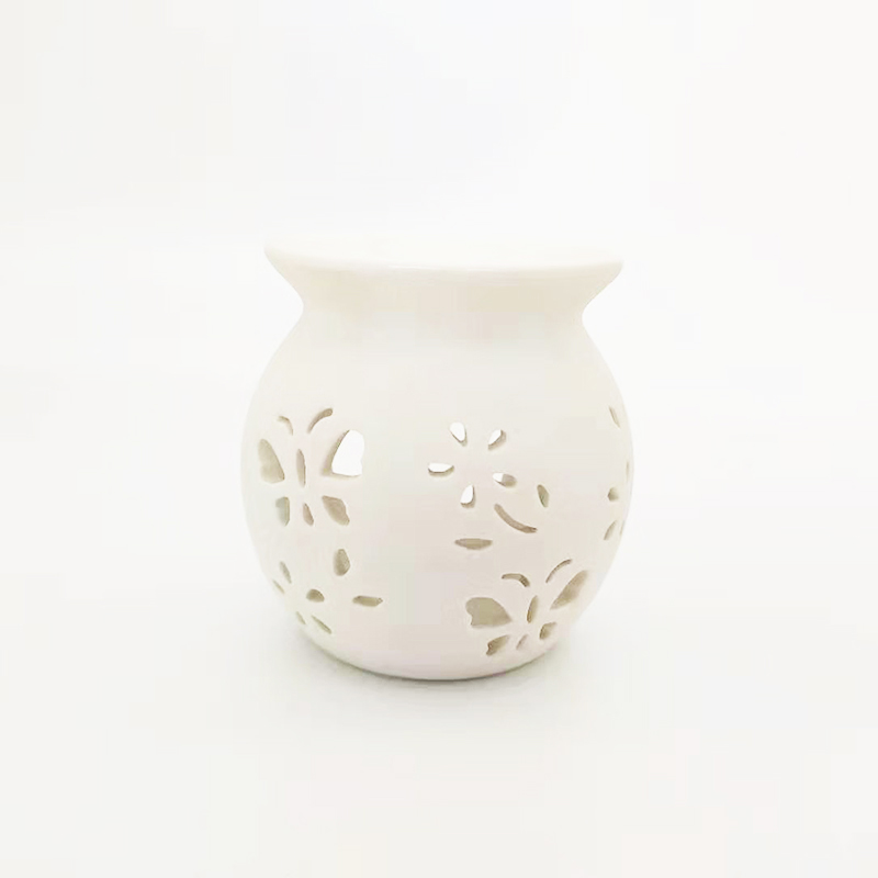 Ceramic aroma essential oil burner wax melt warmer UK for home decor