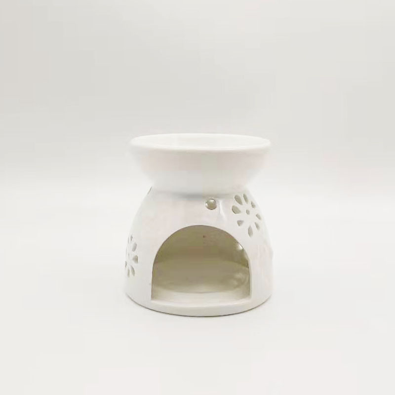 Customized wholesale fragrance ceramic candle oil burner with wax melt or candle