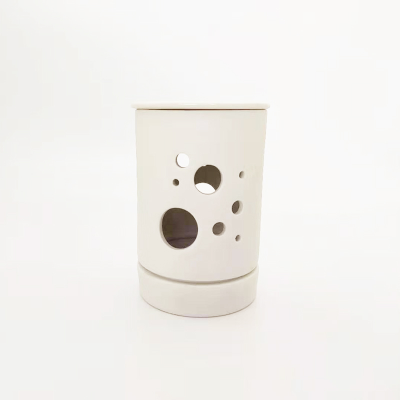White ceramic essential oil burner candle warmer UK for home decor